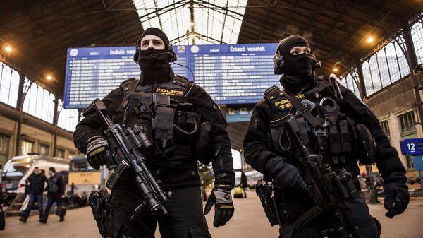 Сотрудники венгерской полиции