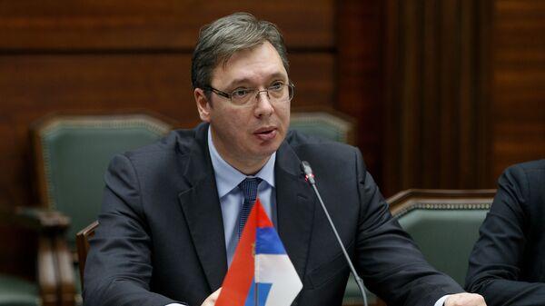 Председатель правительства Сербии Александр Вучич. Архивное фото