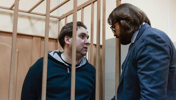 Бывший бухгалтер компании РусГидро Дмитрий Финкель в Басманном суде