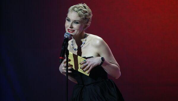 Режиссер, актриса Рената Литвинова на Национальной премии в области кинематографии Золотой орел