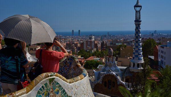 Туристы в Барселоне. Архивное фото