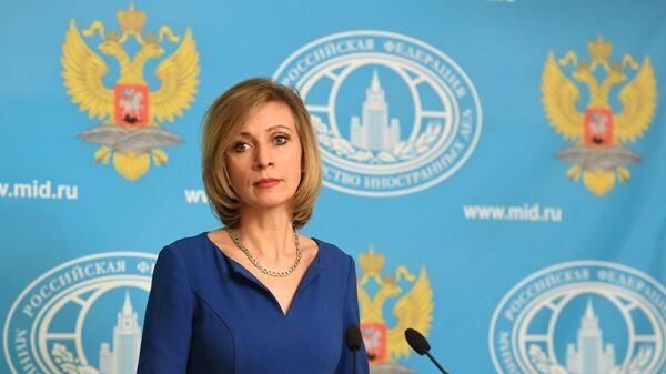 Мария Захарова на брифинге