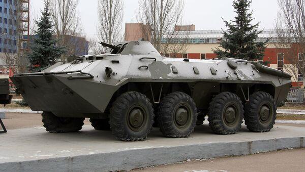 БТР-70 в Парке Победы в городе Казань. Архивное фото