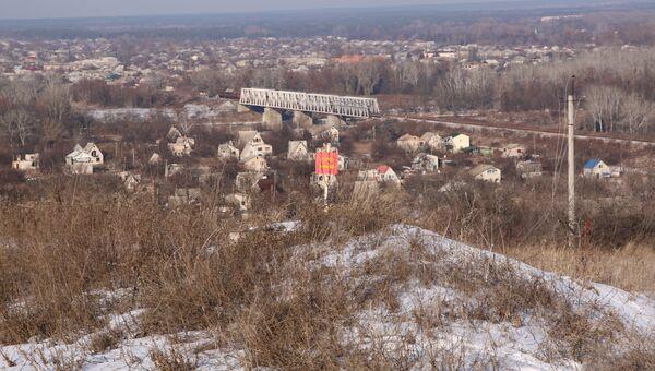 участок у КПП Станица Луганская в Донбассе. Архивное фото