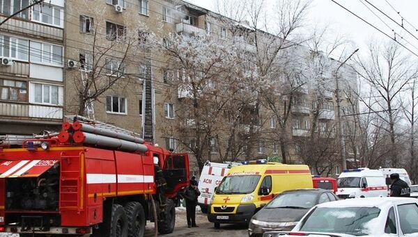 Взрыв газа в жилом доме в Саратове