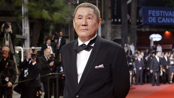 Режиссер Такеши Китано на 63-м международном кинофестивале в Каннах, 17 мая 2010