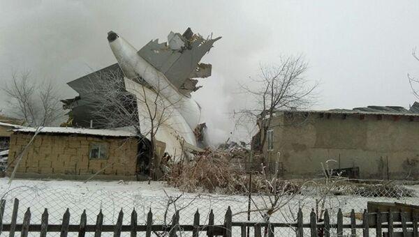 На месте крушения турецкого грузового Boeing 747 под Бишкеком