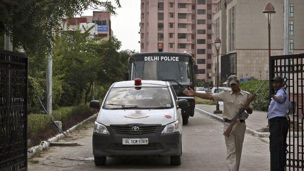 Сотрудники правоохранительных органов Индии в Дели