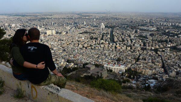 Вид на Дамаск с горы Кассион. Сирия, 05.04.2016