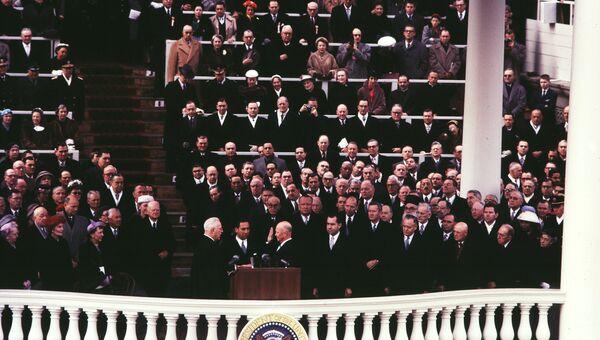Инаугурация президента Дуайта Эйзенхауэра в Вашингтоне, округ Колумбия, США, 1957