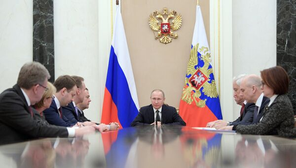 Президент РФ Владимир Путин проводит в Кремле совещание по экономическим вопросам. 18 января 2017