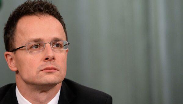 Глава МИД Венгрии Петер Сиярто. Архивное фото.