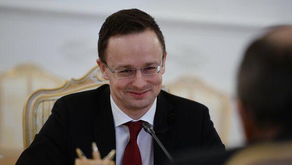 Министр внешнеэкономических связей и иностранных дел Венгрии Петер Сиярто. Архивное фото
