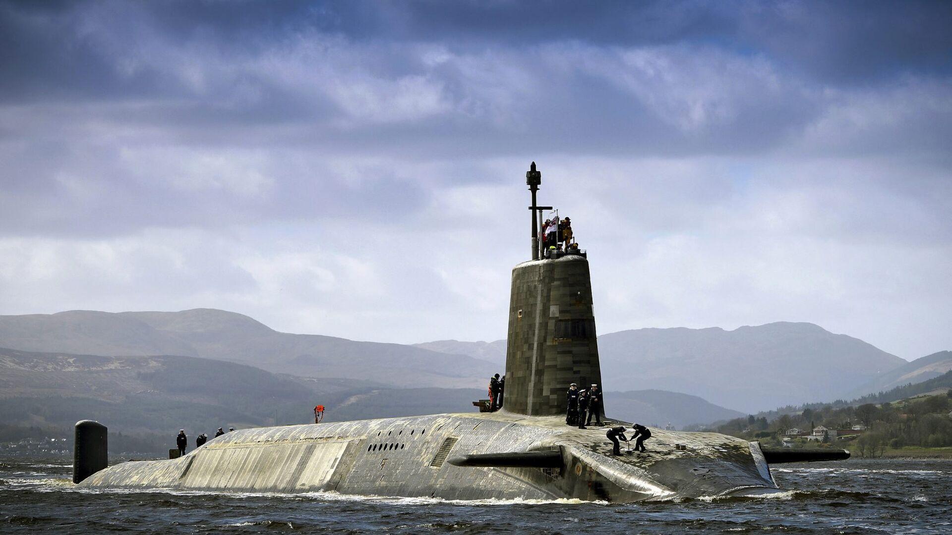 Подводная лодка Vigilant ВМС Великобритании с ракетами Trident II D5 на борту - РИА Новости, 1920, 19.11.2018