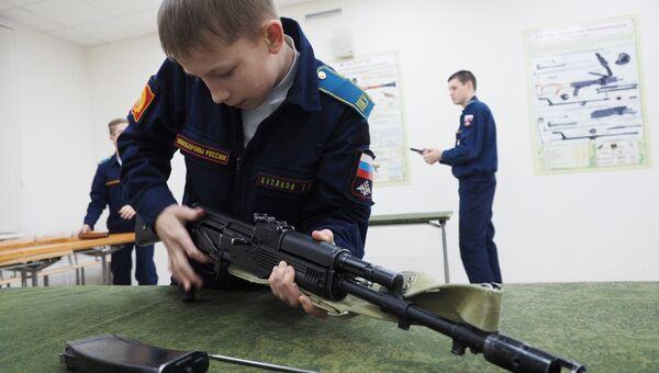 Кадеты Краснодарского президентского кадетского училища. Архивное фото