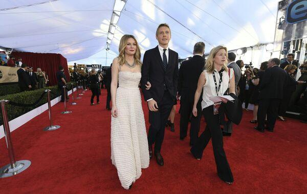 Кирстен Данст на церемонии вручения премии Гильдии киноактеров США в Лос-Анджелесе