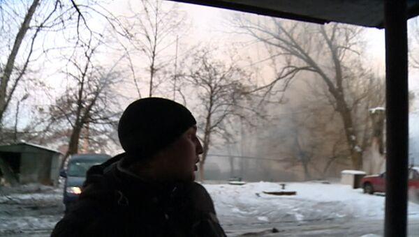 Обстрел Донецка и последствия артналета. Съемка очевидцев