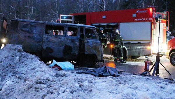На месте крупной дорожной аварии в Новой Москве