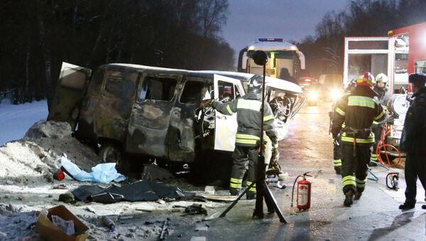 На месте крупной дорожной аварии в Новой Москве. Архивное фото