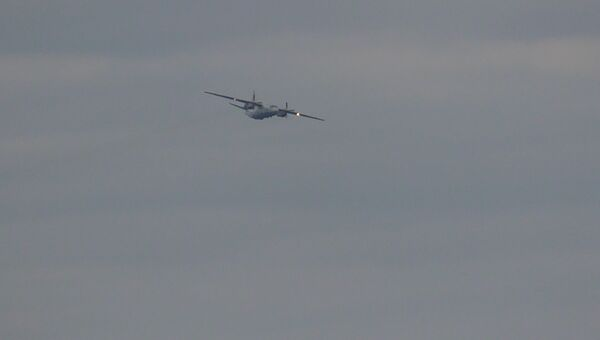 Фото полета украинского Ан-26, якобы обстрелянного с российских буровых вышек