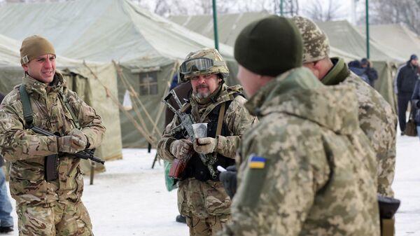 Солдаты ВСУ в Авдеевке, Украина. 2 февраля 2017