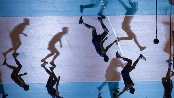 Игроки сборной России в матче Кубка мира по волейболу. Архивное фото