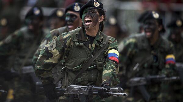 Вооруженные силы Венесуэлы во время парада в Каракасе, Венесуэла
