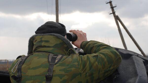 Боец народной милиции ДНР в окрестностях села Коминтерново Донецкой области