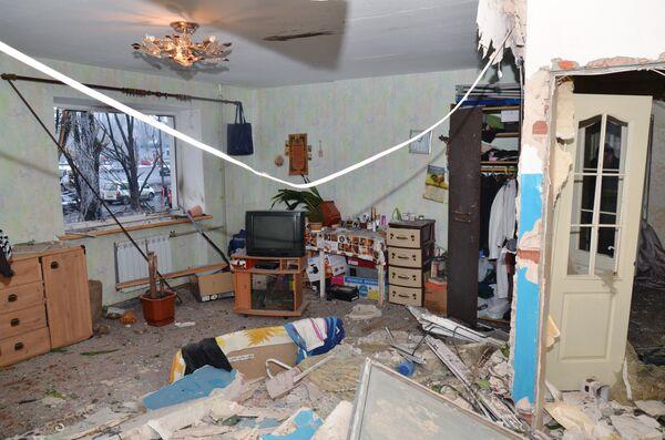 Комната жилого дома в Калининском районе Донецка, пострадавшего при ночном обстреле