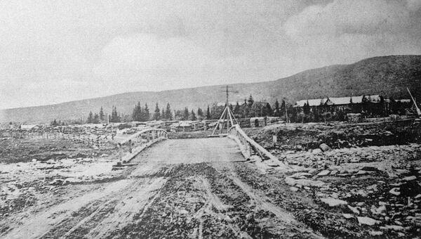 Место расстрела рабочих Ленских приисков. 1912 год