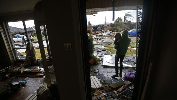 Последствия торнадо в Новом Орлеане, штат Луизиана, США. Архивное фото