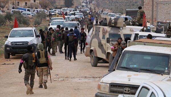 Турецкие военные в районе города Эль-Баб в Сирии. Архивное фото