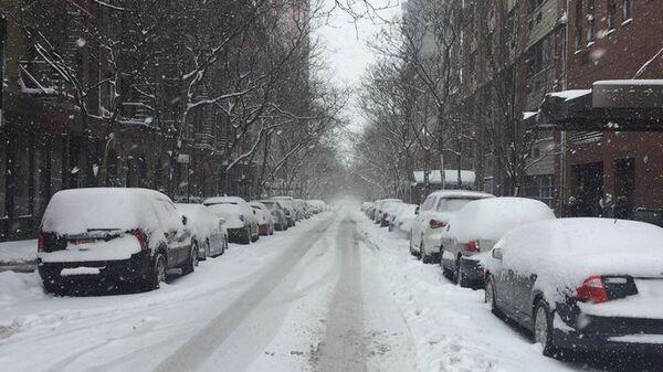 Зимний шторм в США