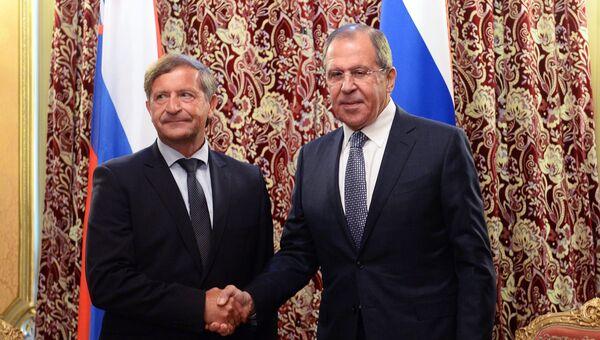 Встреча Сергея Лаврова с министром иностранных дел Словении Карлом Эрьявецем