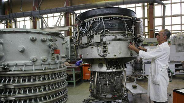 В цеху ОАО Мотор Сич в Запорожье, Украина