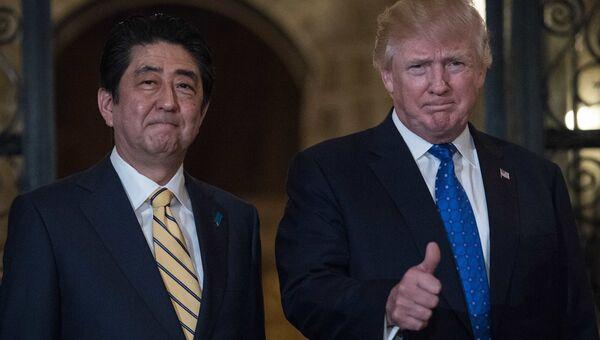 Президент США Дональд Трамп и премьер-министр Японии Синдзо Абэ. Архивное фото