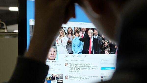 Страница президента США Дональда Трампа в Twitter