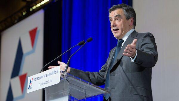 Кандидат в президенты Франции от партии Республиканцев Франсуа Фийон. Архивное фото