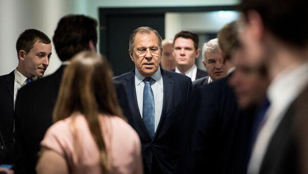 Министр иностранных дел России Сергей Лавров во время встречи глав МИД G20 в Бонне