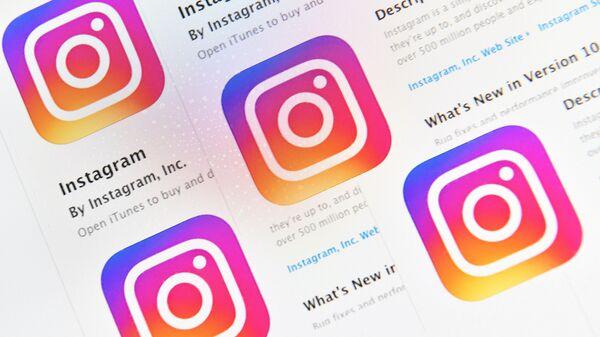 Логотип социальной сети Instagram. Архивное фото
