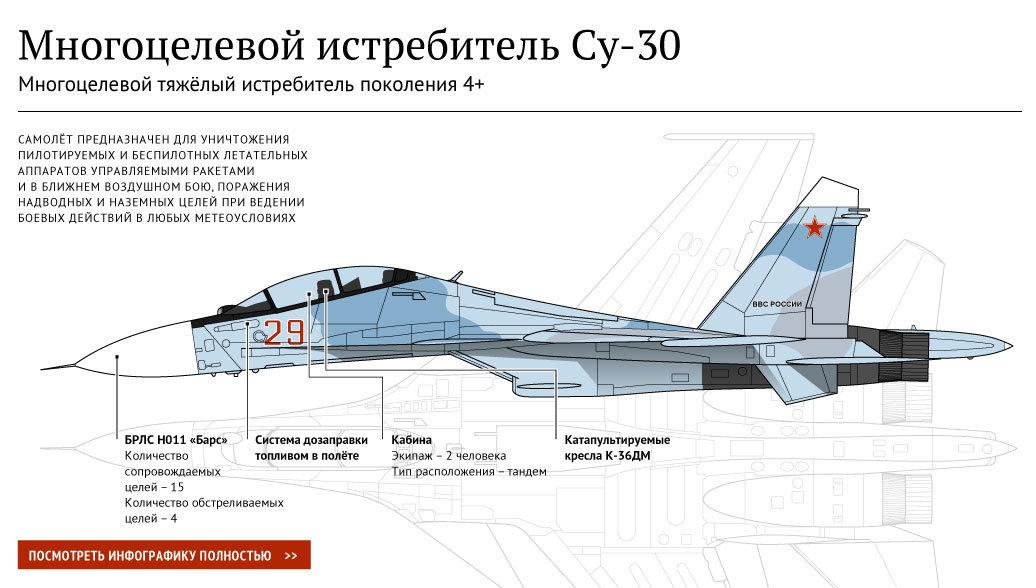 Многоцелевой истребитель Су-30 - РИА Новости, 1920, 09.01.2016