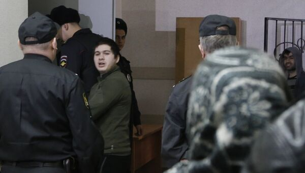 Роман Фаталиев, обвиняемый в убийстве бывшего начальника полиции Сызрани Андрея Гошта, в Самарском областном суде перед оглашением приговора. 22 февраля 2017