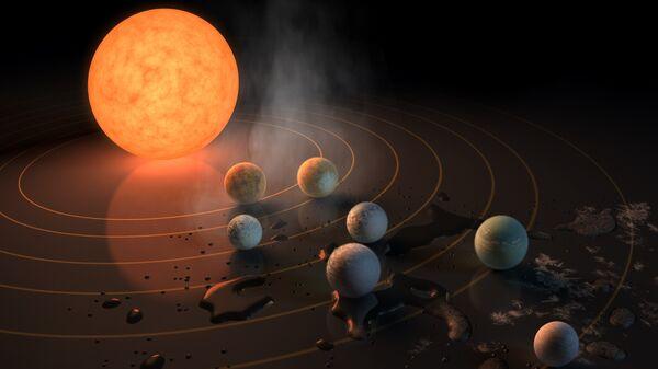 Семь похожих на Землю планет обнаружено в системе TRAPPIST-1 в 37 световых годах от нас. Одна из планет   — TRAPPIST-1 d — особенно перспективна для поисков жизни