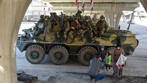 Отправка военных инженеров международного противоминного центра ВС РФ из Алеппо