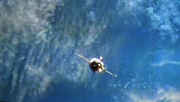 Стыковка грузового корабля Прогресс МС-05 с МКС. Архивное фото