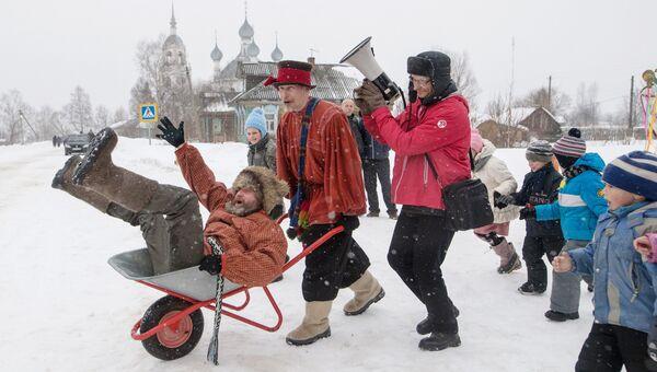 Празднование Широкой Масленицы в селе Давыдово Ярославской области