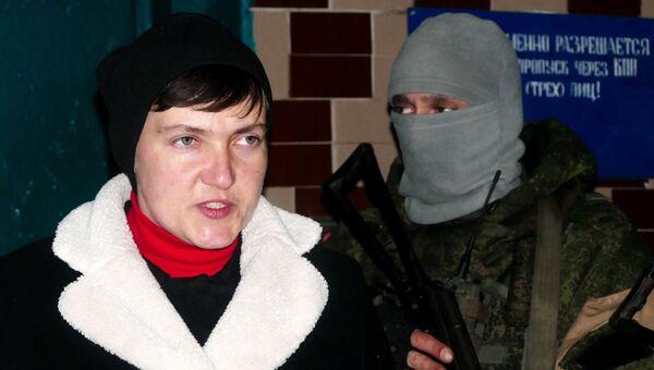 Надежда Савченко во время визита в ДНР для встречи с пленными силовиками. 24 февраля 2017