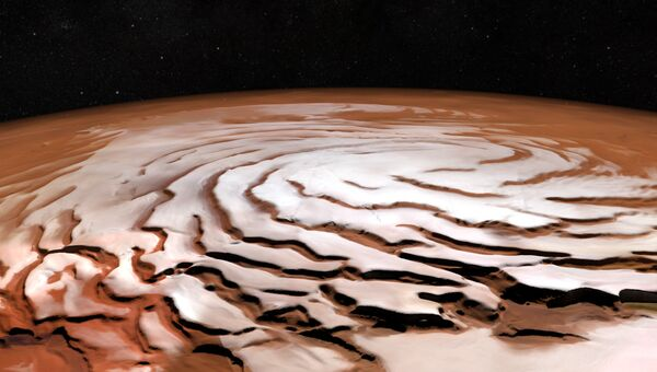 Северная полярная шапка на Марсе. Архивное фото
