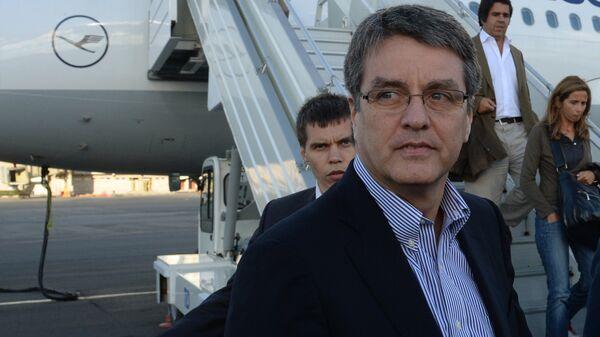 Генеральный директор Всемирной торговой организации (ВТО) Роберто Азеведо. Архивное фото