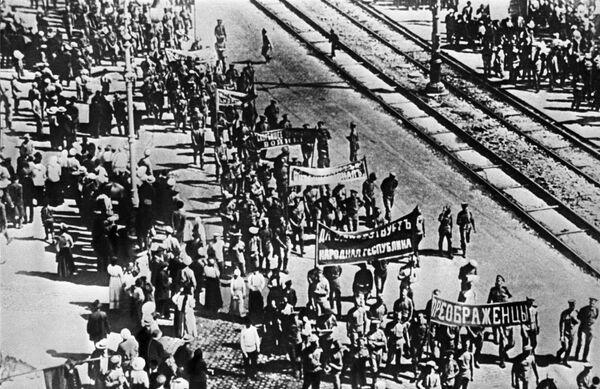 Демонстрация протеста революционных частей Петроградского гарнизона против ноты Милюкова от 18 апреля 1917 года